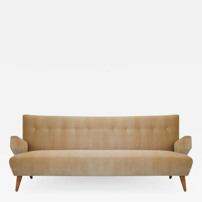 Jens Risom Early Jens RIsom Model 37 Sofa for Knoll in Camel Velvet