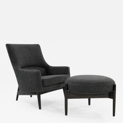 Jens Risom Jens Risom A Line Lounge Chair and Ottoman in Boucl C 1950s