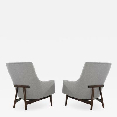 Jens Risom Jens Risom A Line Lounge Chairs Model 2136