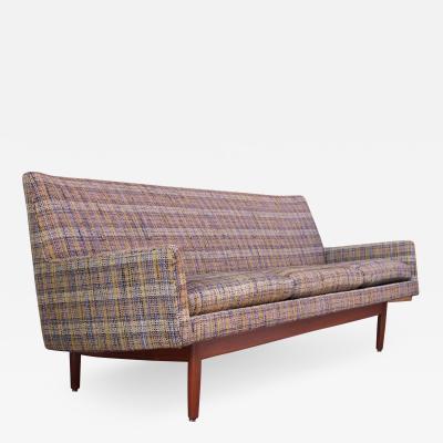 Jens Risom Jens Risom Floating Sofa in Walnut with Original Tweed Upholstery