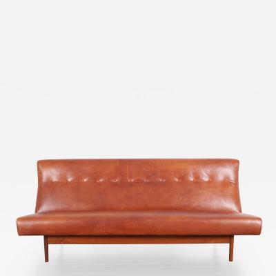 Jens Risom Jens Risom Leather Sofa for Risom Design