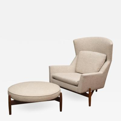 Jens Risom Jens Risom Lounge Chair and Ottoman