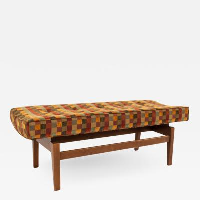 Jens Risom Jens Risom Mid Century Upholstered Walnut Bench