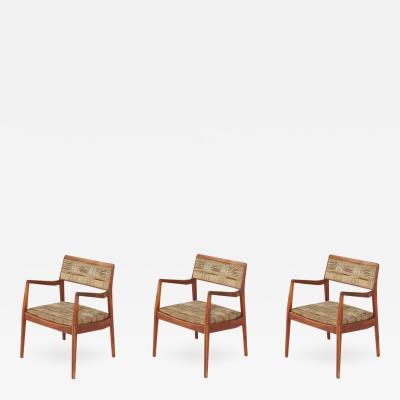 Jens Risom Jens Risom Playboy Armchairs Set of Three