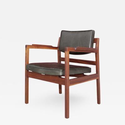 Jens Risom Jens Risom Sculptural Walnut Desk Chair