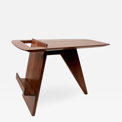 Jens Risom Jens Risom Solid Walnut 1950s Magazine Side Table