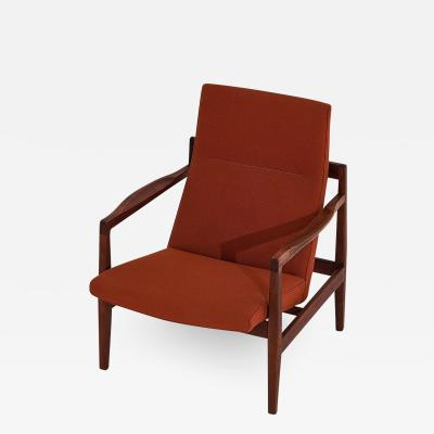 Jens Risom Jens Risom Walnut Lounge Chair 1960