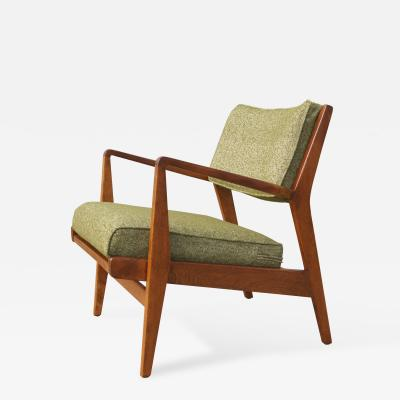 Jens Risom Low Armchair Model U 430 in Walnut by Jens Risom