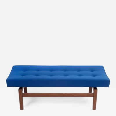 Jens Risom Pair of Four Foot Floating Upholstered Benches by Jens Risom