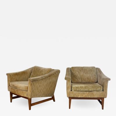 Jens Risom Pair of Jens Risom Lounge Chairs