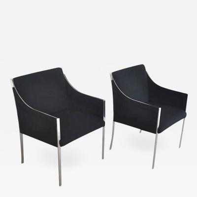 Jens Risom Pair of Mid Century Occasional Chairs Lounge Chairs