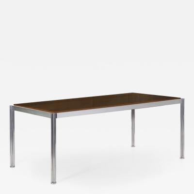Jens Risom Rare Oak and Aluminum Jens Risom Dining Table circa 1960s