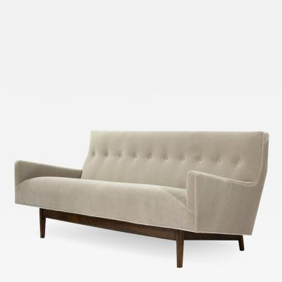 Jens Risom Sofa in Natural Mohair by Jens Risom Model U 150