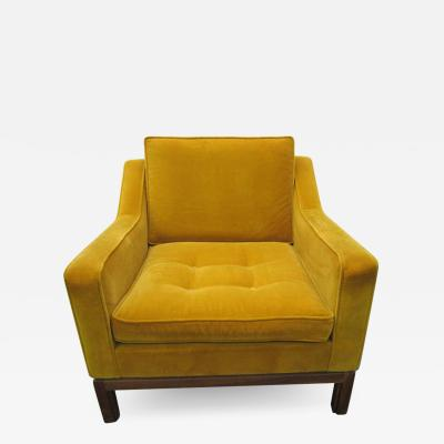 Jens Risom Striking Jens Risom Tufted Slope Armchair Mid Century Modern