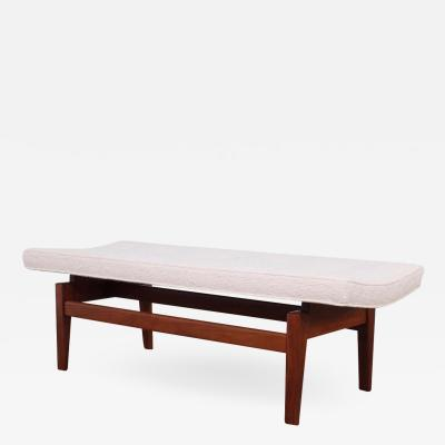 Jens Risom Walnut Bench by Jens Risom