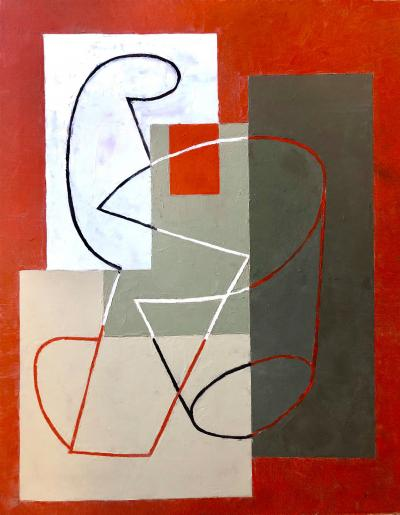 Jeremy Annear Breaking Contour Red Square II