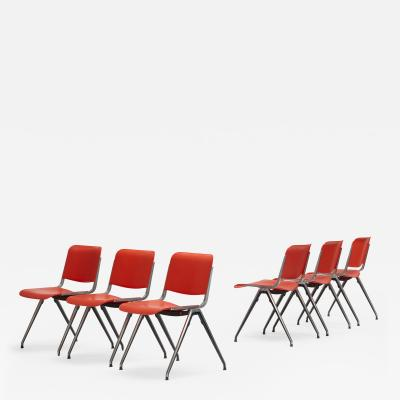 Jerome Caruso stacking chairs set of six