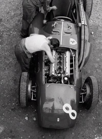 Jesse Alexander Ferrari Mechanic Reims 1954