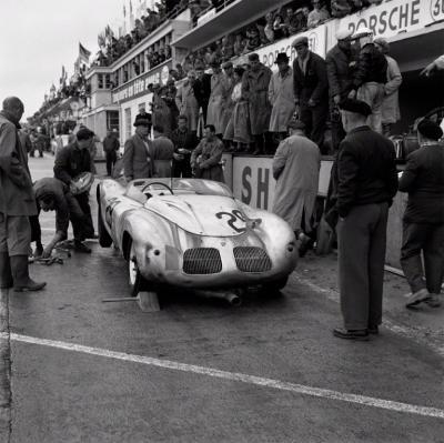 Jesse Alexander Porsche Pit Stop at Le Mans 1959
