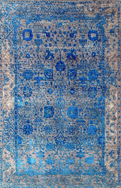 Jeziorak in Blue NOV24 Studio for Zollanvari Super Fine Gabbeh Wool Silk