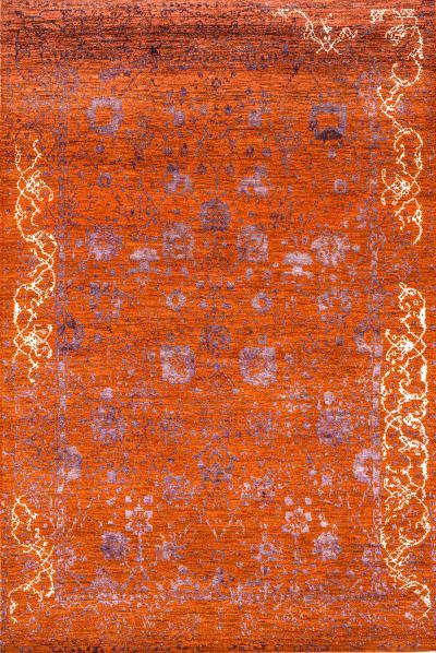 Jeziorak in Orange NOV24 Studio for Zollanvari Super Fine Gabbeh Wool Silk