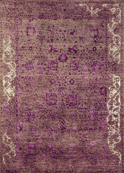 Jeziorak in Violet NOV24 Studio for Zollanvari Super Fine Gabbeh Wool Silk