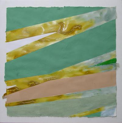 Jill Nathanson Untitled Aqua Yellow Ochre