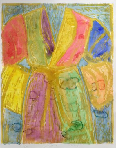 Jim Dine Jim Dine Yellow Watercolors Woodcut and Watercolor 1993 Signed
