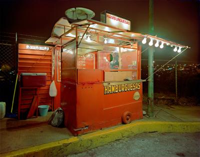 Jim Dow Carrito Selling Hamburgers Miramar Progreso Naucalpan Mexico State Mexcio
