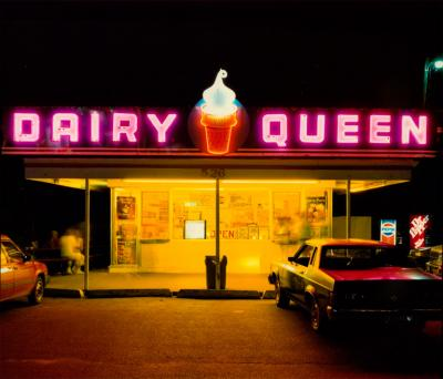 Jim Dow Dairy Queen at Night US 6 Iowa City Iowa 1988