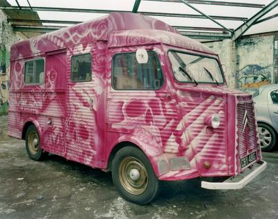 Jim Dow Luardos 2 Taco Truck Parked in Storage Dalston London UK 2013
