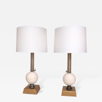 Jim Misner A Pair of American Custom Made Industrial Style Lamps by Jim Misner