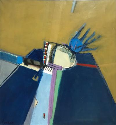 Jimmy C Lueders Blue Is Right by Jimmy Lueders Large Oil on Canvas
