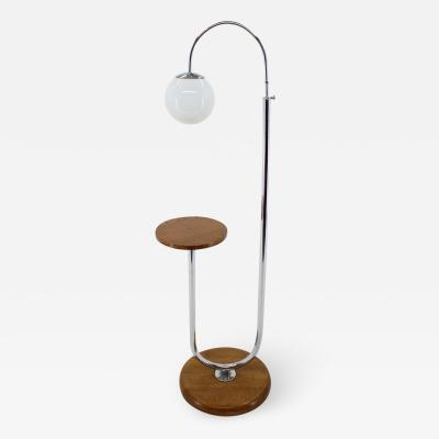 Jindrich Halabala 1930s Art Deco Floor Lamp Czechoslovakia