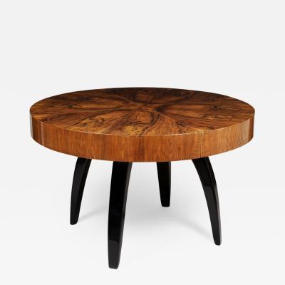 Jindrich Halabala 20th century Art Deco Czech Extendable table