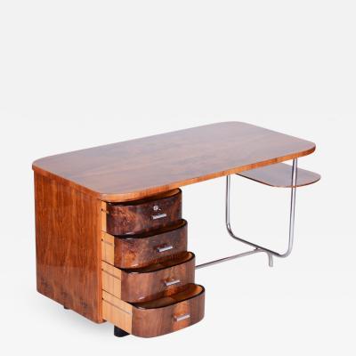 Jindrich Halabala 20th century Art Deco Czech Writing desk H 180