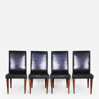 Jindrich Halabala 20th century Artdeco Czech Chairs 4 Pcs