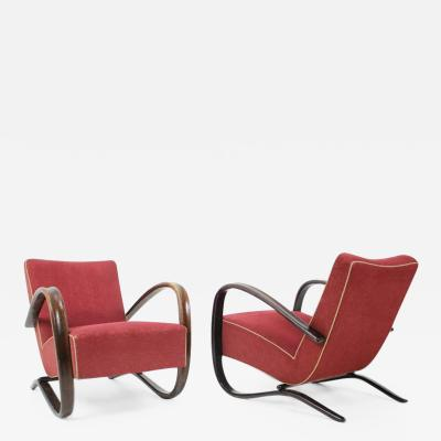 Jindrich Halabala Armchairs H 269 by Jindrich Halabala Set of Two 1940s