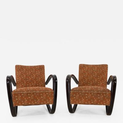 Jindrich Halabala Armchairs by Jindrich Halabala Set Of Two