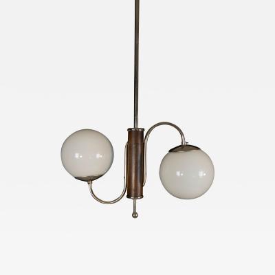 Jindrich Halabala Art Deco 2 flamming chandelier