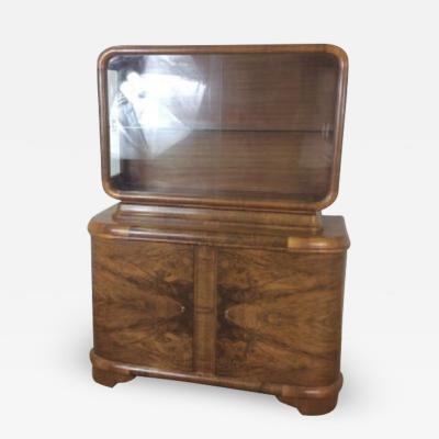 Jindrich Halabala Art deco bookcase display cabinet