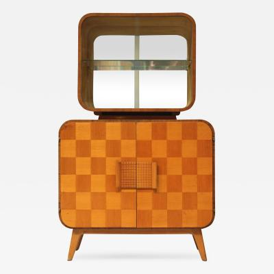 Jindrich Halabala Atomic Style Mid Century Bar Cabinet by Halabala