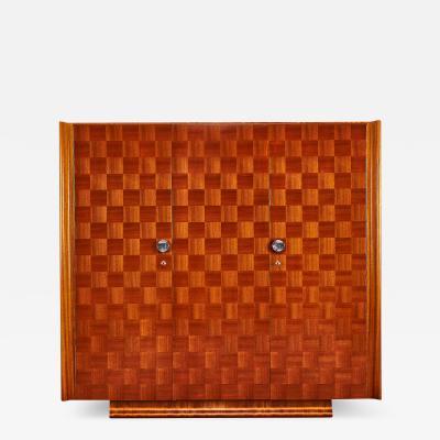 Jindrich Halabala Jindrich Halabala Catalogue piece 3 doors Art Deco Wardroobe 1937s