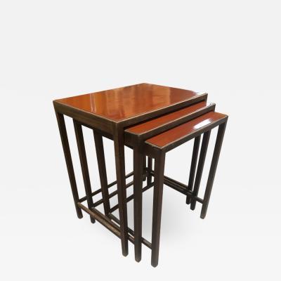 Jindrich Halabala NESTING TABLES ART DECO