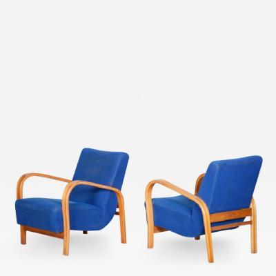 Jindrich Halabala Pair Of Halabala Arm Chairs