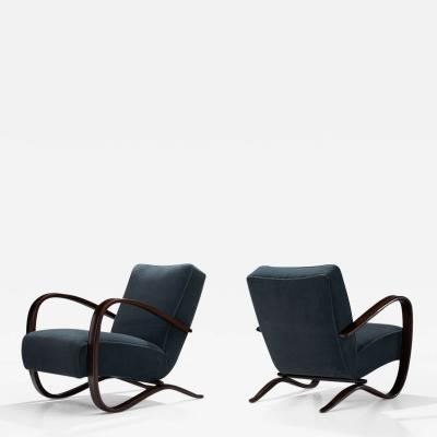 Jindrich Halabala Pair Of Jind ich Halabala Lounge Chairs Czech Republic ca 1930s