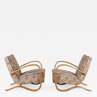 Jindrich Halabala Pair of Jindrich Halabala H 269 Chairs for Up Zadovy from Czech 1930