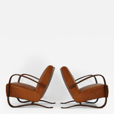 Jindrich Halabala Pair of Jindrich Halabala Lounge Chairs