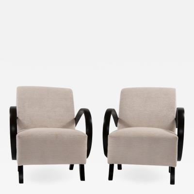 Jindrich Halabala Pair of Jindrich Halabala Lounge Chairs 1930s