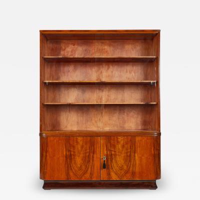 Jindrich Halabala Vintage Art Deco Bookcase with glass by Jindrich Halabala 1930 UP Z VODY